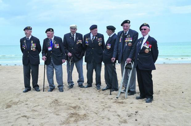 The Wiltshire Gazette and Herald: Veterans Wally Beall, of Atworth, Doug Lakey, of Warminster, Bernard Howell, of Mere, Bob Conway, of Trowbridge, George French, of Swindon, Gordon Smith, of Newbury, and Bert Williams, from Calne