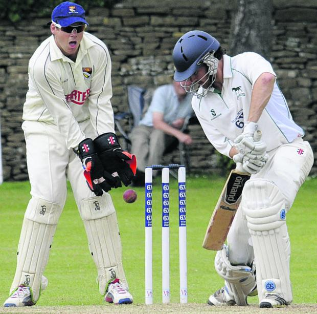 The Wiltshire Gazette and Herald: Wiltshire's Ed Young in batting action during yesterday's quarter final