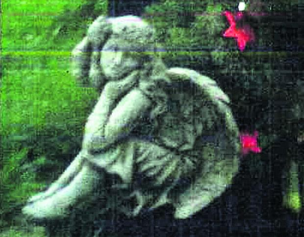 The angel statue which was stolen from a grave in Devizes Cemetery