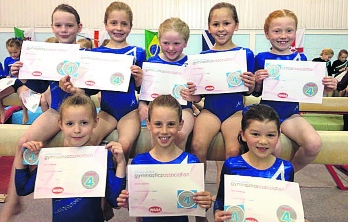 Moonrakers' grade four gymnasts at the Wiltshire Grades event