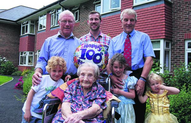 Vera Heath is 100 today, but her big birthday was marked with an early party for her friends and relatives last Sunday