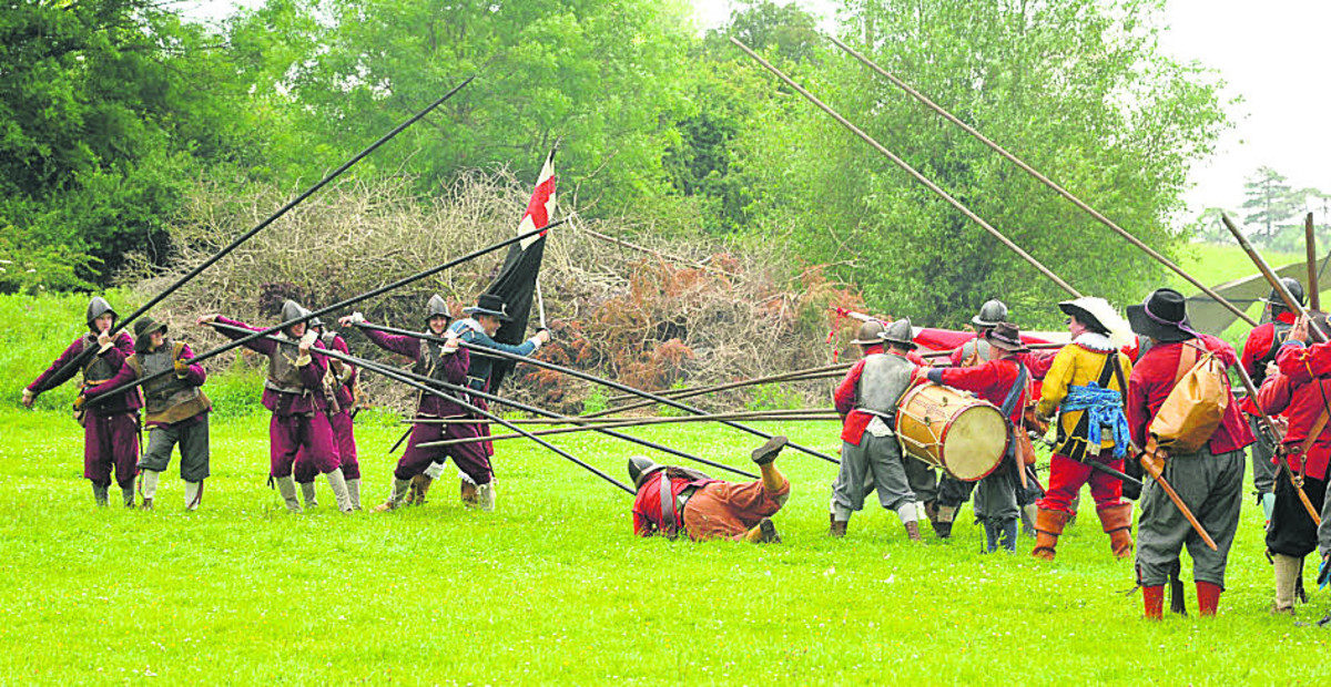 Combatants march into action as they recreate English Civil War fight in Malmesbury