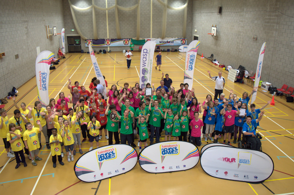 Participants at the Panathlon competition