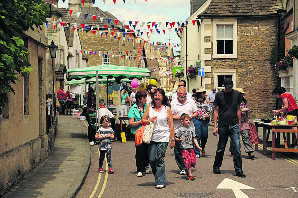 High Street was bustling for Corsham Food Festival, with shoppers checking the wares of traders