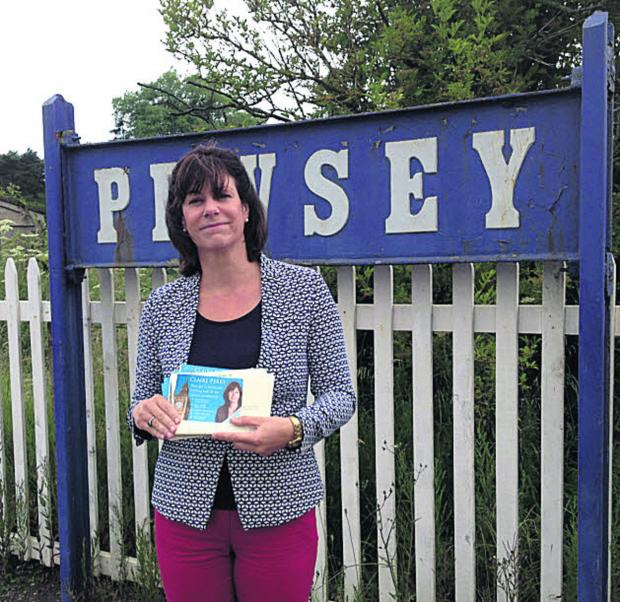 Devizes MP Claire Perry at Pewsey station