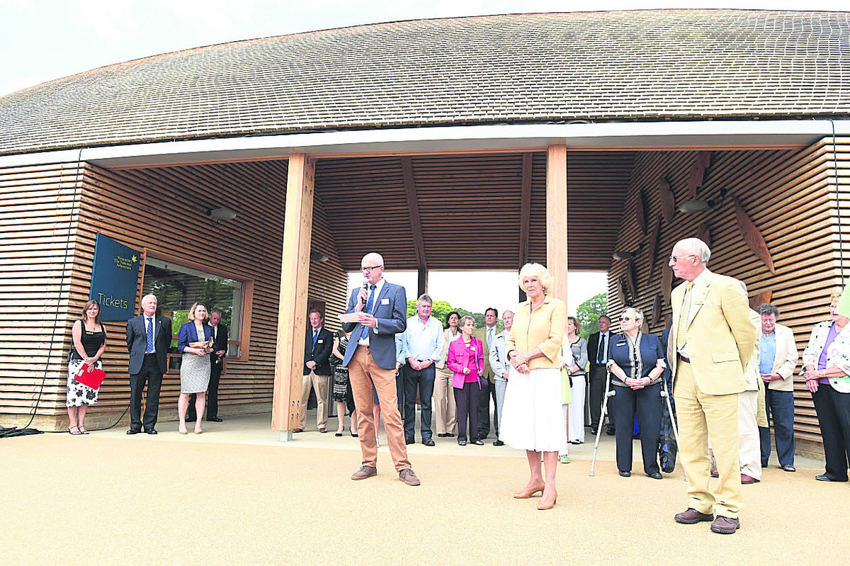 Duchess gets circus welcome at opening in Westonbirt