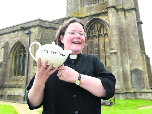 The Rev Janet Anderson-MacKenzie is brewing up for her charity challenge in aid of the Church of St John