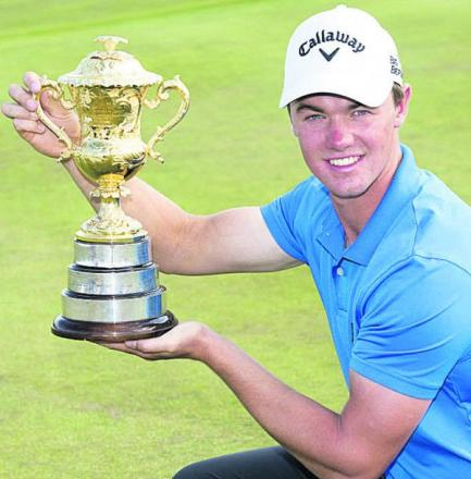 Ben Stow, with the Brabazon Trophy (Photo: Leaderboard Photography)