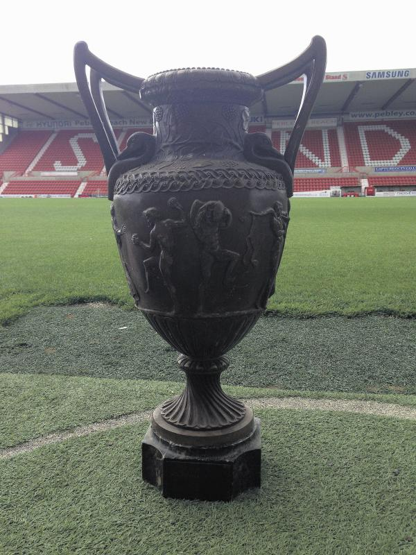 The trophy discovered by Swindon Town staff members in a cupboard