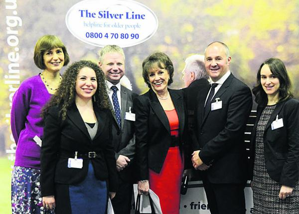 Esther Rantzen and the Silver Line team