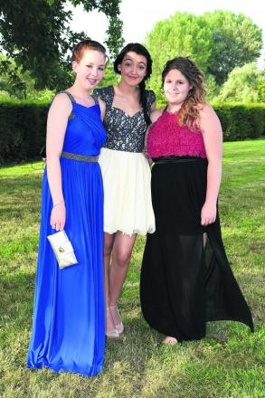 Grace Langan, Emily Burcker and Chloe Lofthouse arrive in style for their prom