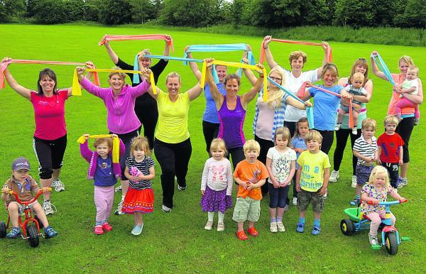 The Wiltshire Gazette and Herald: Mums and tots keep fit before Lea and Charlton Todder Group meets