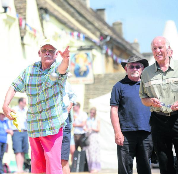 Action from last year's Sherston boules festival