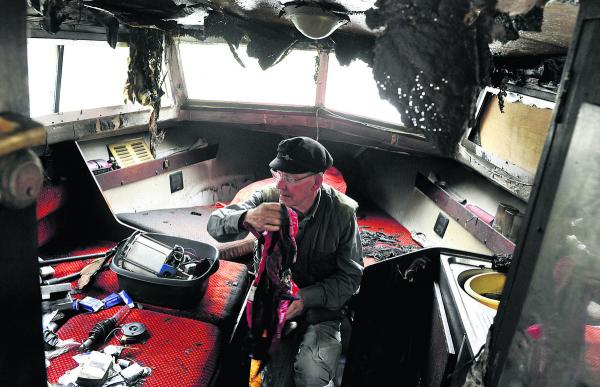 Devizes pensioner's pride and joy canal boat torched