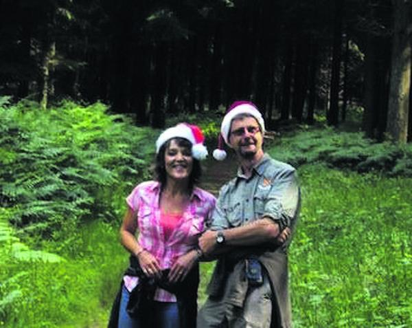 Michelle Temple, administration services manager, and head groundsman John Macindoe pick the Christmas tree at Longleat