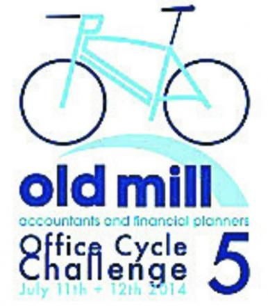 A team of Melksham accountants are cycling around