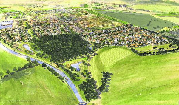 An artist's impression of the 230-home Lay Wood development at Devizes