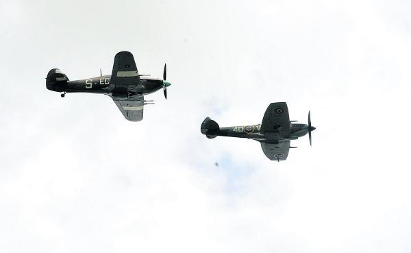 The Wiltshire Gazette and Herald: The Battle of Britain flypast