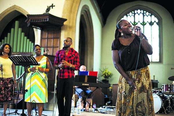 The Gospel Group in St Mary's Church, Marlborough, at a previous festival