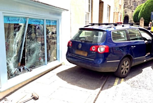 The car that rolled into Powell's Interiors and Upholstery on Monday