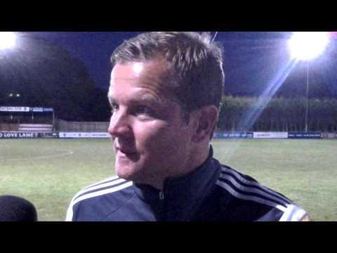 The Wiltshire Gazette and Herald: Mark Cooper speaking to the media at Love Lane last night
