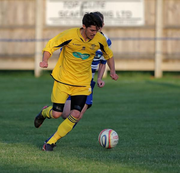 Toby Osman gets back in a Chippenham shirt during Tuesday's friendly win over Shrivenham