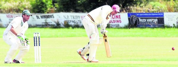 Biddestone's Dwaine Perry in action against Warminster