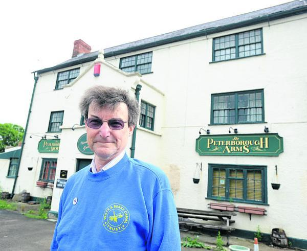 Chris Coyle, acting chairman of the Wilts and Berks Canal Trust, outside the Peterborough Arms last year