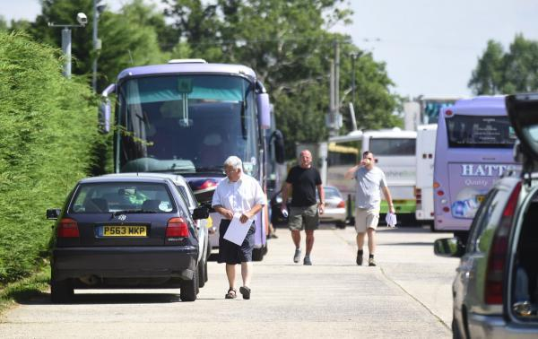 The scene at Hatts Travel, Foxham, a week ago after the firm folded