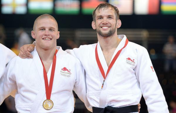 Tom Reed (right) with gold medallist Owen Livesey
