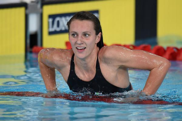 Wiltshire's Jazz Carlin, pictured after setting a new Commonwealth Games 800m freestyle record in Glasgow earlier today
