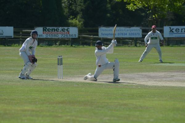Potterne's Luke De Souza (middle) hit 64 for the villagers last weekend