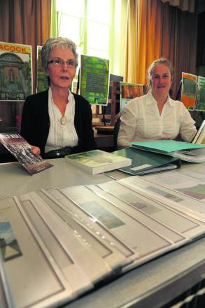 Lynda Newbury and archivist Sue West