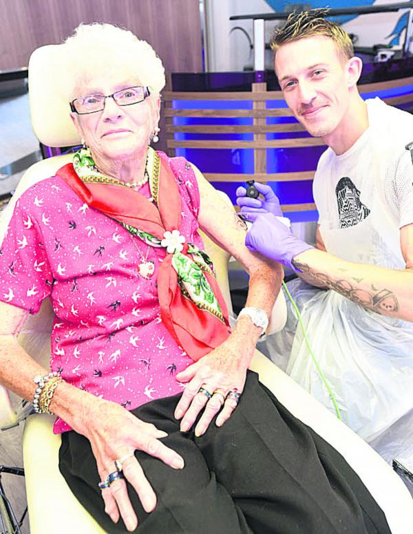 Grandmother, 80, is first customer at new Devizes tattoo parlour