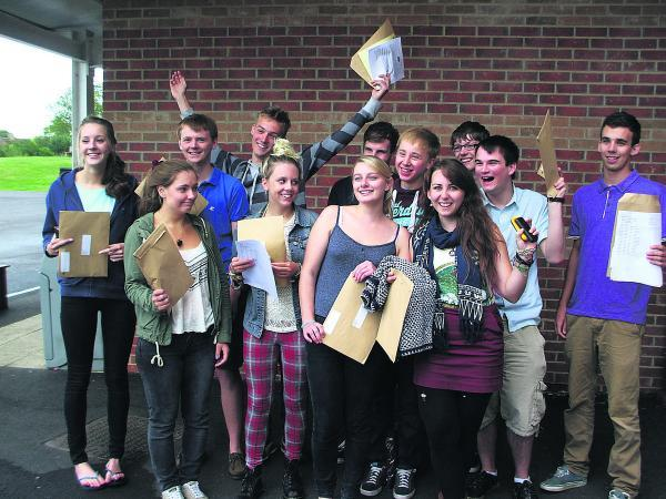 Malmesbury School students full of cheer on receiving their results