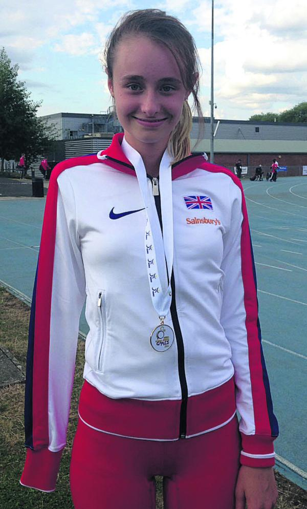 Polly Maton, from Urchfont, who won three gold medals at IWAS World Junior Games