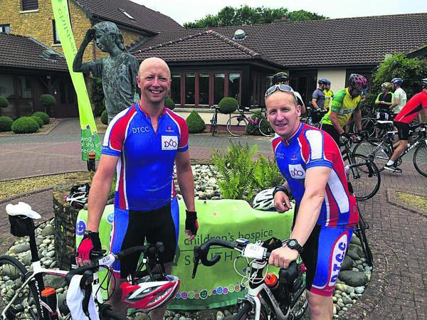 Devizes cyclists Andy Harper and Ben Gale raised money for Children's Hospice South West