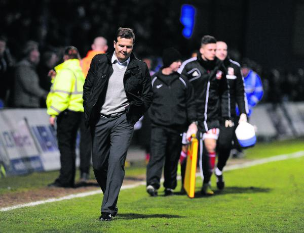 Mark Cooper will be hoping to leave Priestfield a happier than he was when pictured their last season