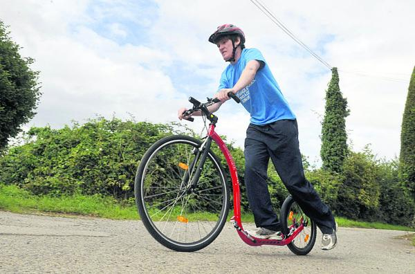 Ed Dyke puts in some training for his 230-mile ride. Picture by Siobhan Boyle