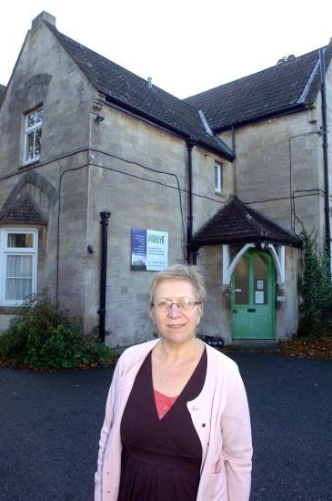 Philippa Read, chief executive of Community First, outside Wyndhams, which will can be visited on Devizes Heritage Open Day