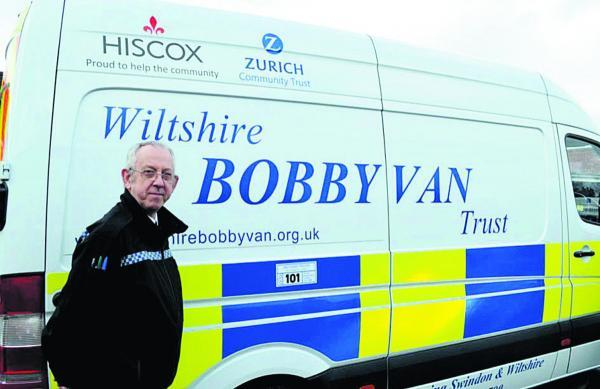 Bobby van operator Mick Leighfield, who is a retired police officer
