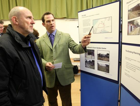 A consultation meeting about the planned homes on the former Blounts Court Nursery site at Studley