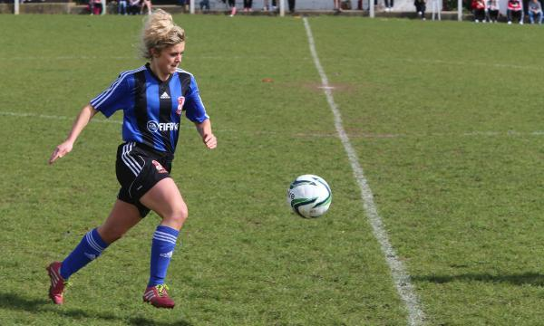 Town Ladies' goalscorer Beth Thompson