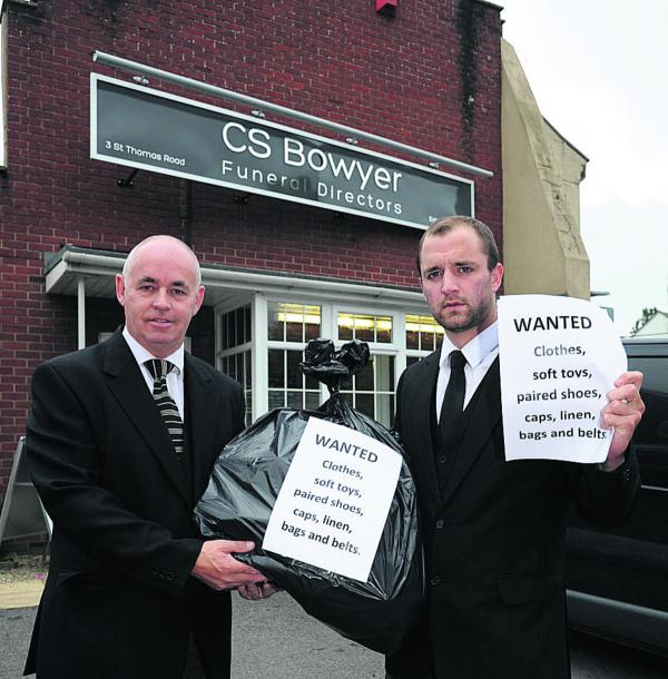 Funeral firm's plea for clothes to aid hospice