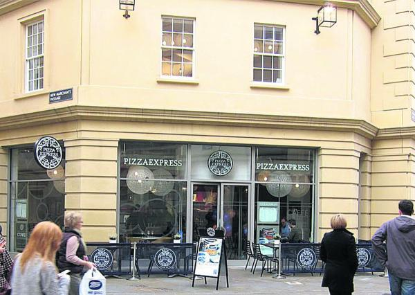 Pizza Express Southgate Shopping Centre Bath Sn12 6ad Tel