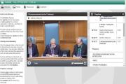 Chairman Councillor Roy While speaks during the first live internet screening of full council meetings at Wiltshire Council today