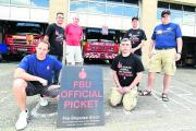 Chippenham firefighters during a previous walkout