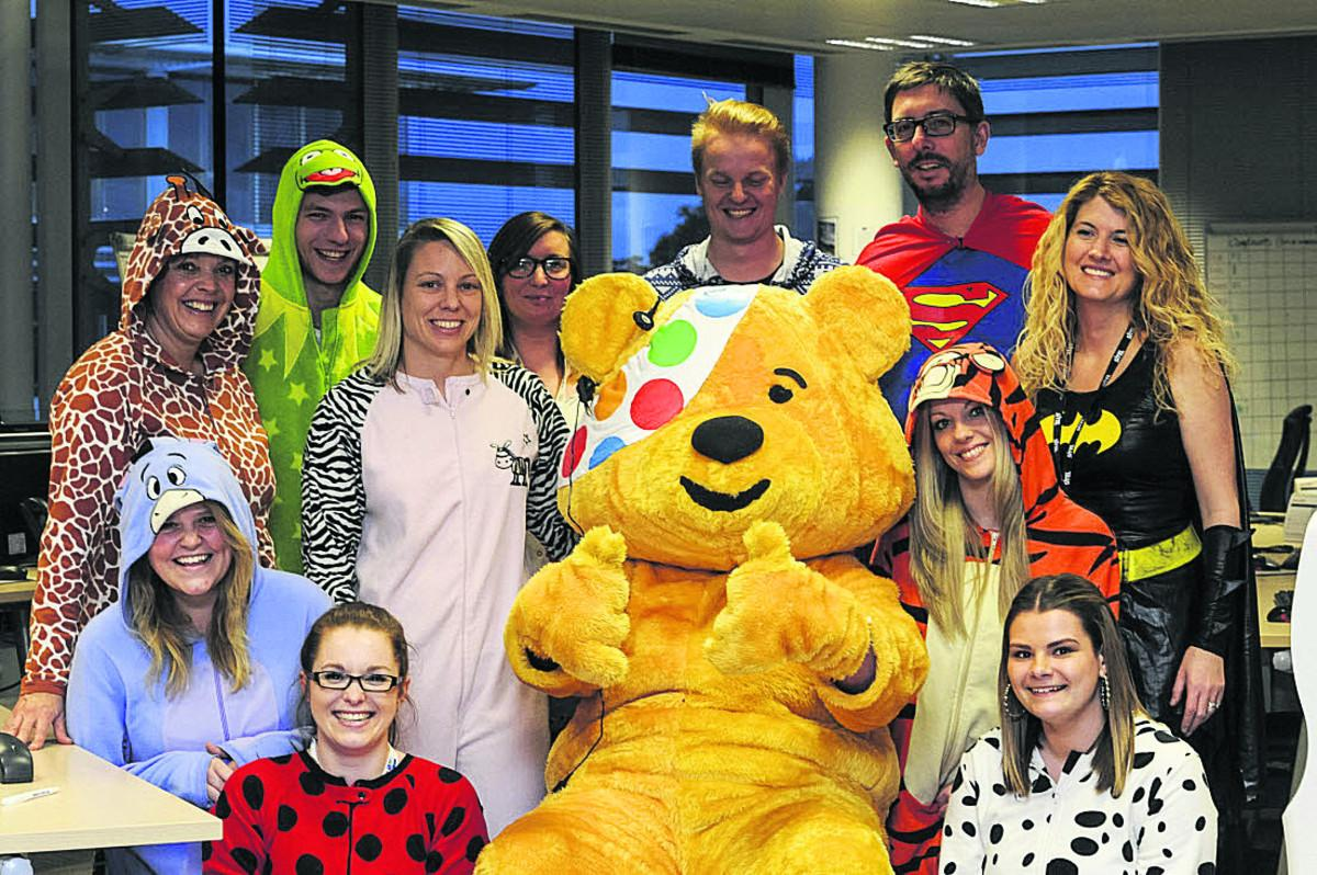 Nationwide staff who ran one of the call centres for Children In Need last year, and will be doing so again tomorrow