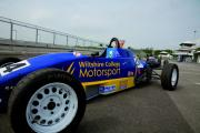 The Wiltshire College racing car at Castle Combe racing circuit