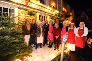 Christmas trees brighten up Lacock for festive season